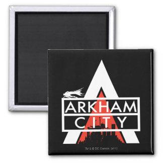 Blanco del logotipo de la ciudad de Arkham Imán Para Frigorífico