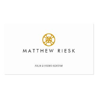 Blanco del logotipo, de la película y del editor tarjeta de visita