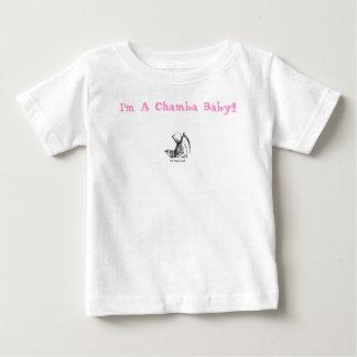 ¡blanco del logotipo, soy un bebé de Chamba!!! Playeras