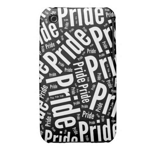 BLANCO DEL MODELO DE LA PALABRA DEL ORGULLO - .PNG iPhone 3 COBERTURA