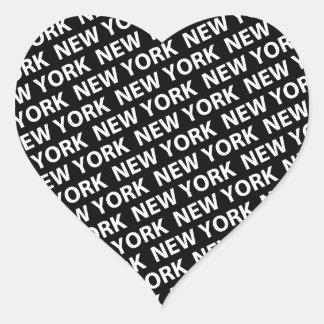 Blanco del modelo de Nueva York Calcomanías Corazones