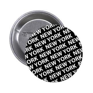 Blanco del modelo de Nueva York Pin Redondo De 2 Pulgadas
