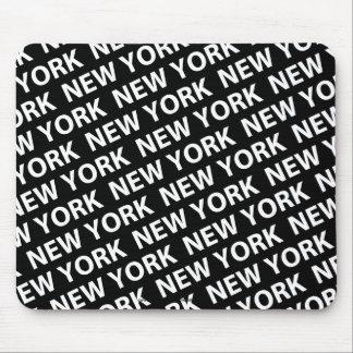 Blanco del modelo de Nueva York Tapetes De Ratones