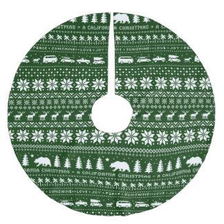 Blanco del modelo del navidad de California en Falda Para Arbol De Navidad De Poliéster
