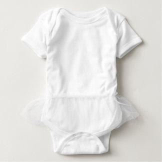 Blanco del mono del tutú del bebé playera