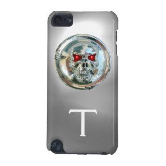 Blanco del MONOGRAMA de los JINETES del CRÁNEO Funda Para iPod Touch 5G