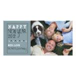 Blanco del negro azul del bosquejo de la diversión tarjeta fotografica personalizada