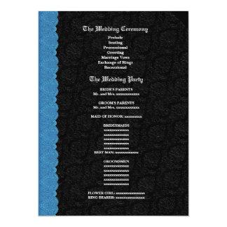 """Blanco del negro con el programa azul V003 del Invitación 5.5"""" X 7.5"""""""