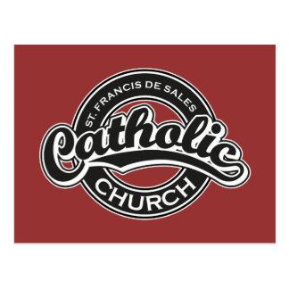 Blanco del negro de la iglesia católica de St Fran Postal