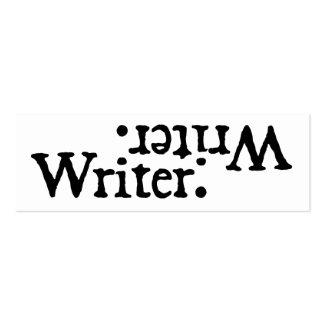Blanco del negro de la revocación del escritor tarjetas de visita mini
