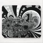 Blanco del negro del arte moderno de Mousepad Tapete De Ratones
