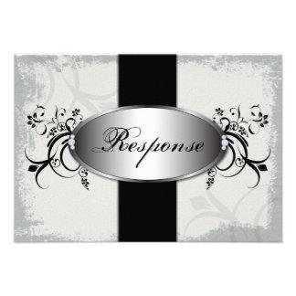 Blanco del negro del diamante de la tarjeta de RSV Invitaciones Personalizada