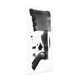 Blanco del negro del expresionismo abstracto impresión en lienzo estirada