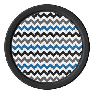 Blanco del negro del gris azul del fondo del juego de fichas de póquer