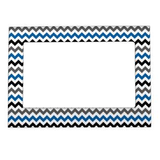 Blanco del negro del gris azul del fondo del marcos magneticos