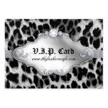 Blanco del negro del leopardo de la tarjeta del cl tarjetas de visita