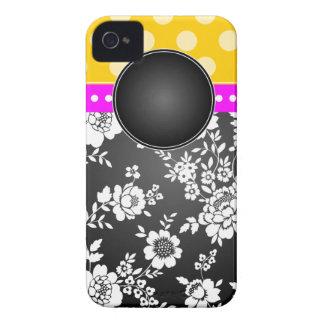 Blanco del negro del rosa del amarillo del caso de iPhone 4 protector