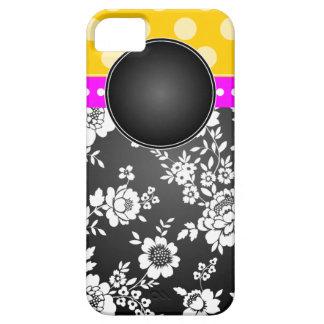 Blanco del negro del rosa del amarillo del caso de iPhone 5 carcasa