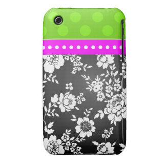 Blanco del negro del rosa del verde del caso de Case-Mate iPhone 3 protector