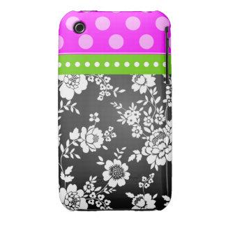 Blanco del negro del rosa del verde del caso de iPhone 3 Case-Mate cárcasas
