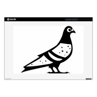 Blanco del negro n de la paloma de la paloma 38,1cm portátil calcomanía