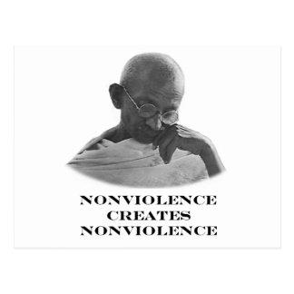 Blanco del Nonviolence los regalos de Zazzle del Tarjetas Postales