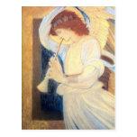 Blanco del oro de Burne-Jones de las postales del