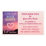 Blanco del rosa de la cubierta de libro de la prom plantillas de tarjetas de visita