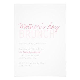 Blanco del rosa del brunch del día de madres compl anuncio personalizado