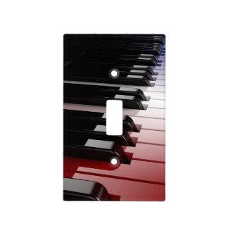 Blanco del teclado de piano y azul rojos placa para interruptor