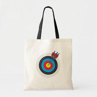 Blanco del tiro al arco con las flechas bolsa tela barata