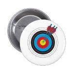 Blanco del tiro al arco con las flechas pin