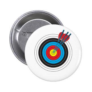 Blanco del tiro al arco con las flechas pin redondo de 2 pulgadas
