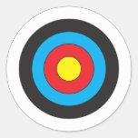 Blanco del tiro al arco etiqueta redonda
