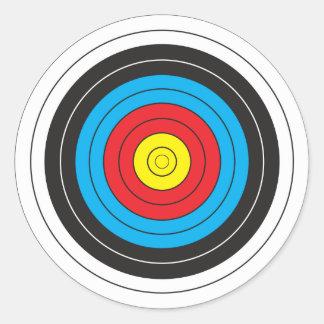 Blanco del tiro al arco etiqueta