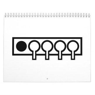 Blanco del tiroteo del Biathlon Calendarios