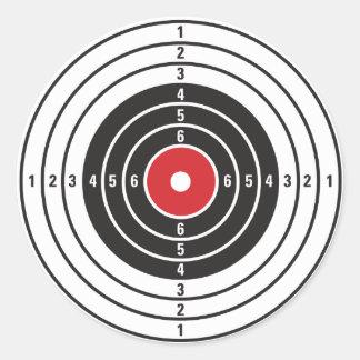 Blanco del tiroteo pegatina redonda