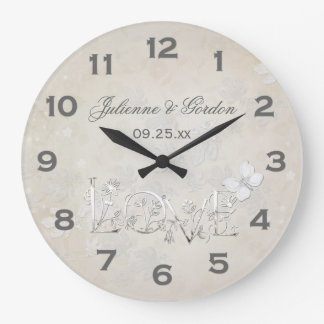 Blanco del vintage en el reloj blanco del boda