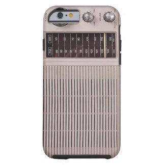 Blanco del vintage y radio del metal de Brown Funda De iPhone 6 Tough