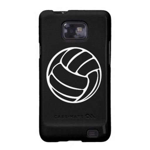 Blanco del voleibol de la galaxia S de Samsung en Samsung Galaxy S2 Fundas