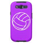 Blanco del voleibol de la galaxia S de Samsung en  Galaxy SIII Fundas