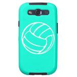 Blanco del voleibol de la galaxia S de Samsung en  Samsung Galaxy S3 Fundas