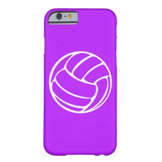 blanco del voleibol del caso del iPhone 6 en Funda Para iPhone 6 Barely There