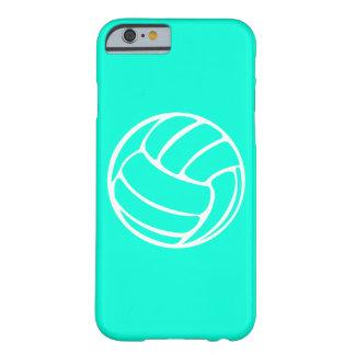 blanco del voleibol del caso del iPhone 6 en la Funda Para iPhone 6 Barely There