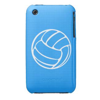 blanco del voleibol del iPhone 3 en azul iPhone 3 Case-Mate Carcasa