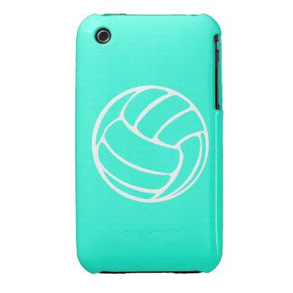blanco del voleibol del iPhone 3 en la turquesa iPhone 3 Carcasas