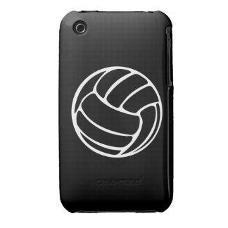 blanco del voleibol del iPhone 3 en negro iPhone 3 Case-Mate Coberturas