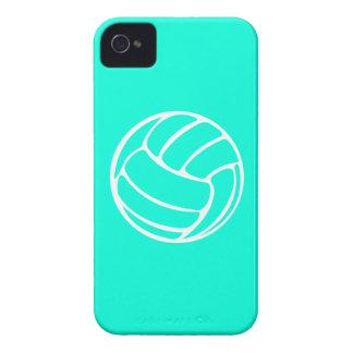blanco del voleibol del iPhone 4 en la turquesa iPhone 4 Carcasas