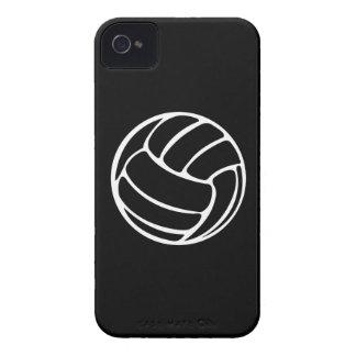 blanco del voleibol del iPhone 4 en negro iPhone 4 Case-Mate Cárcasas