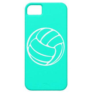blanco del voleibol del iPhone 5 en la turquesa iPhone 5 Fundas